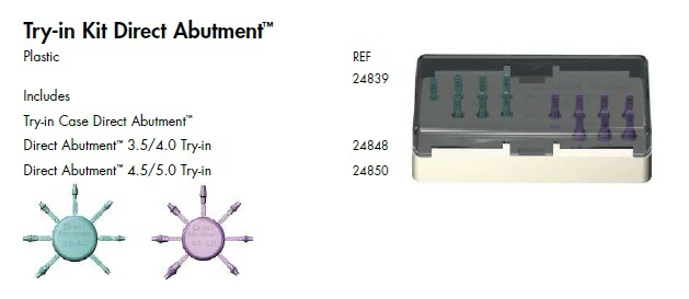 RA Mucosal Punch, Try-in Kit Direct Abutment
