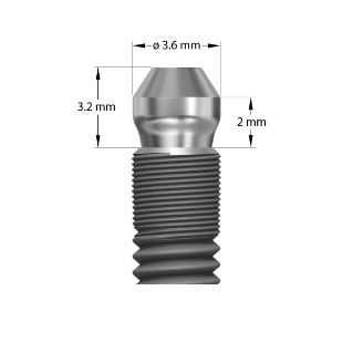 UniAbutment EV 3,6 - 2mm