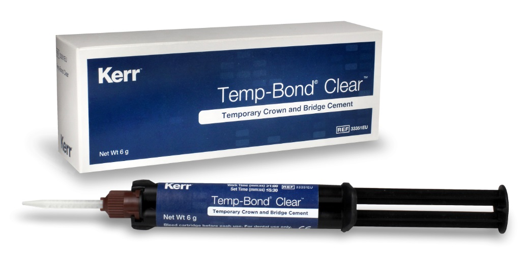 Temp bond Clear + Automix Syringe