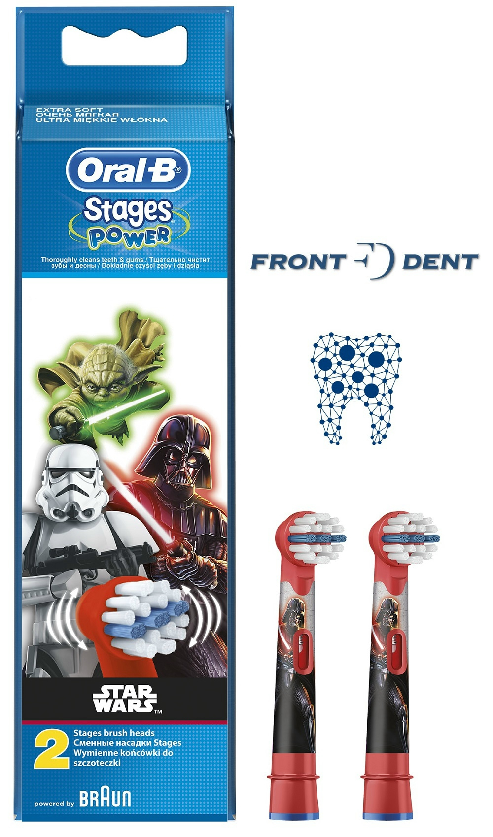 Oral-B EB10-2 pótfej 2db gyerek Star Wars